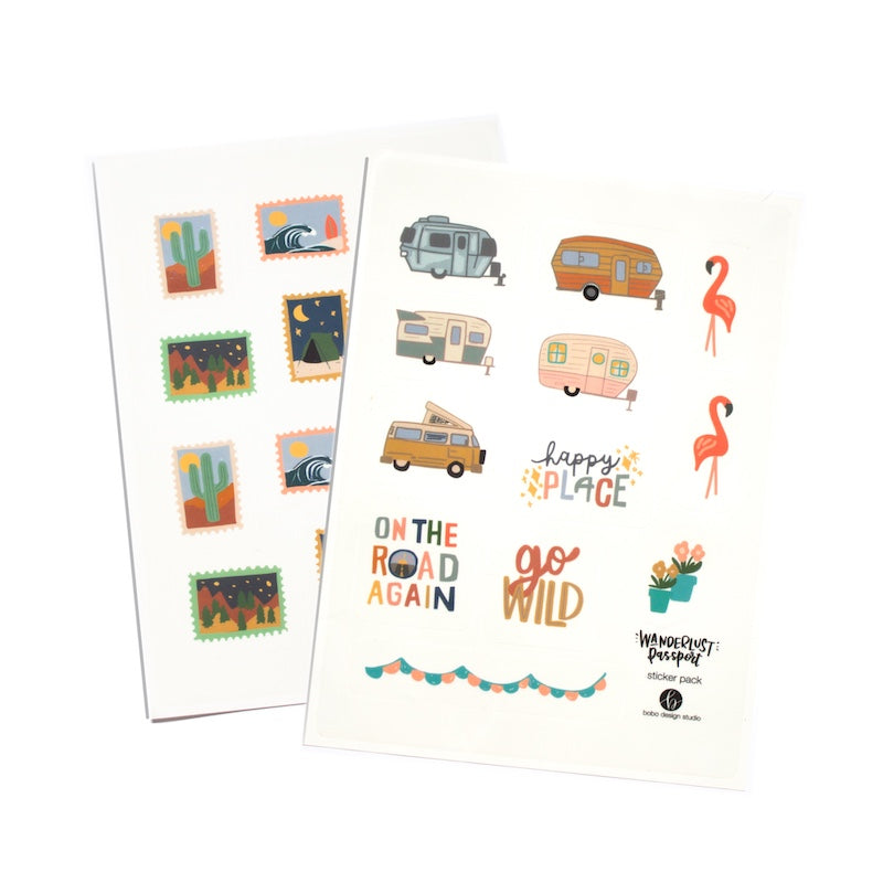RV and Outdoor themed sticker sets from bobo design studio