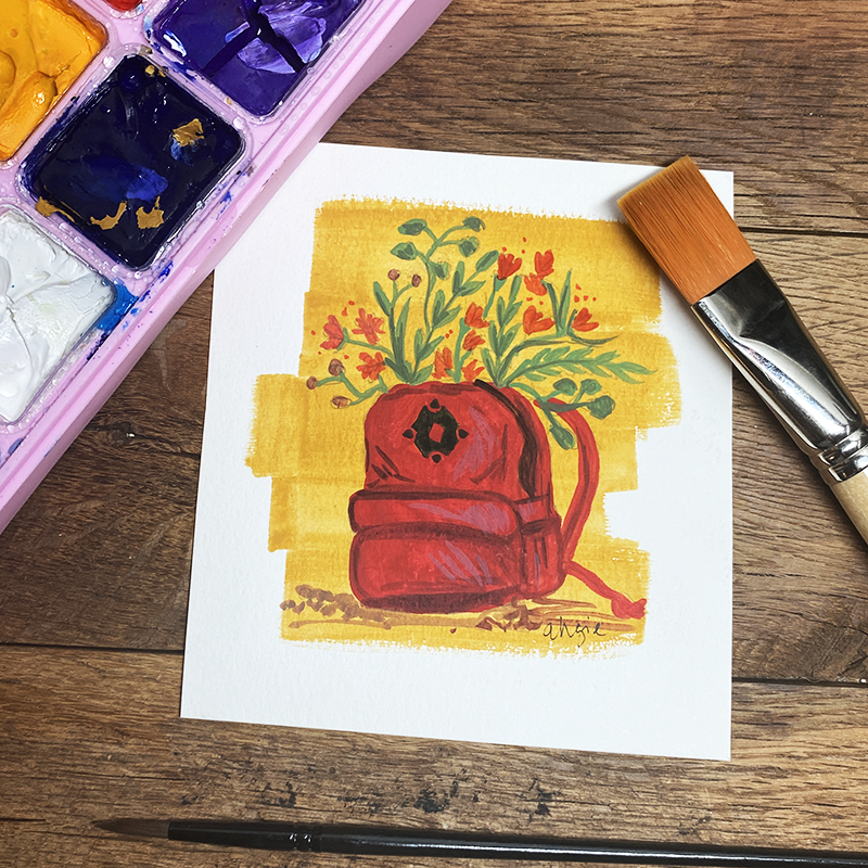 Cup of Life- Original Gouache Painting