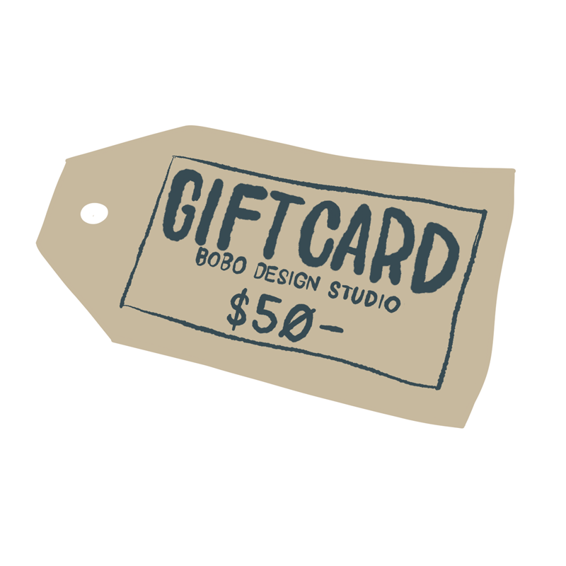 bobo design studio gift card for $50 makes the perfect gift!