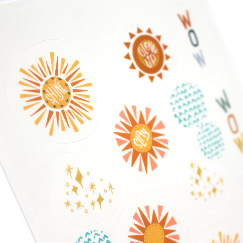 Sunny Side Up Sticker Sheet that is perfect for your bullet journal, planner, or Wanderlust Passport