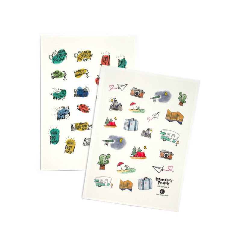 Travel themed Sticker Pack