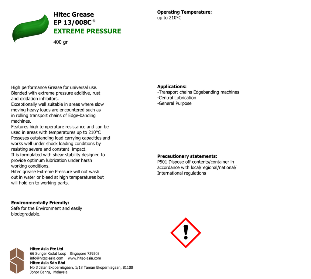 Hitec Grease - EXTREME PRESSURE