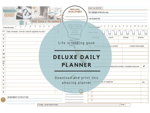 Deluxe Daily Planner- Life is looking good