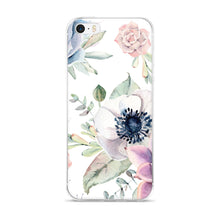 iPhone 5/5s/Se, 6/6s, 6/6s Plus Case -succulents and anemone