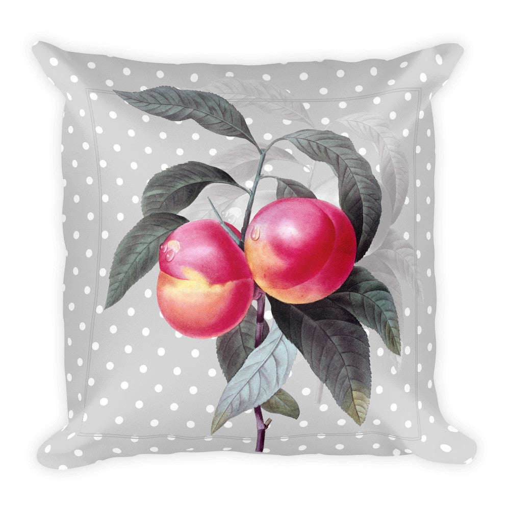 Limited edition Square Pillow-antique nectarines