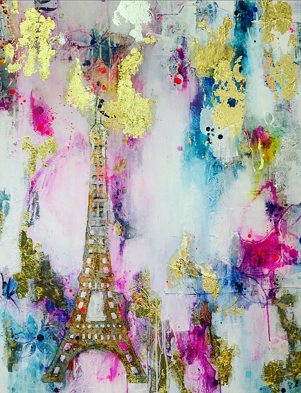 To Paris with Love | Original Artwork on Canvas