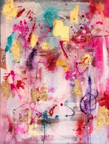 Upside Down | Original Artwork on Canvas | by Melissa La Bozzetta