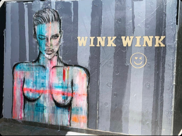 Wink Wink. Original Artwork. Wall Mural