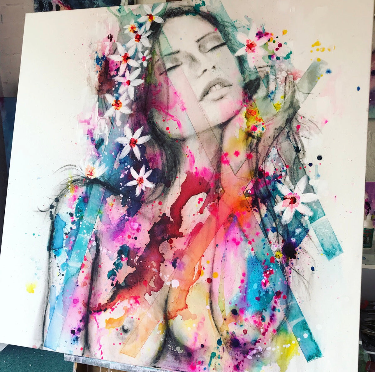 Melania 2. Original Artwork on canvas