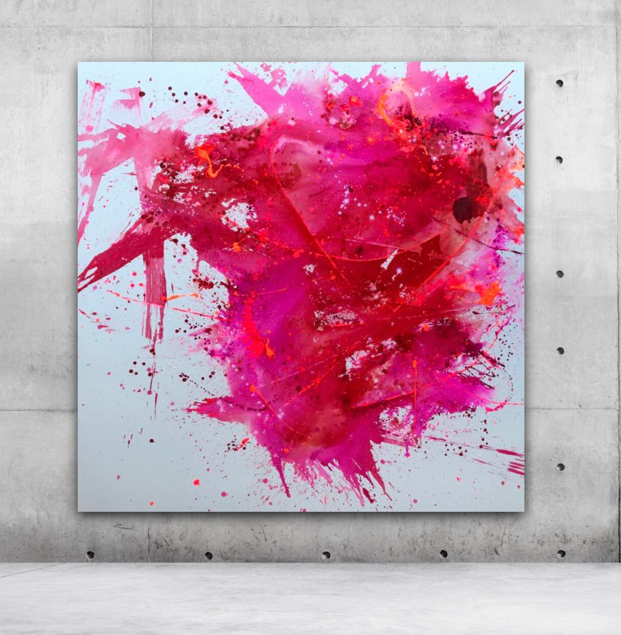 Crazy Pink Love | Original Artwork on Canvas