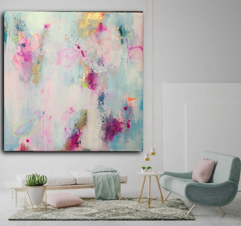 Cloudy Love | Original Artwork on Canvas