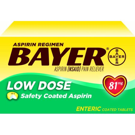 Aspirin Regimen Bayer, 81 mg. Low Dose, 400 Tablets