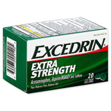 Excedrin Pain Reliever Aid Acetaminophen Geltabs Extra Strength, 20 Count