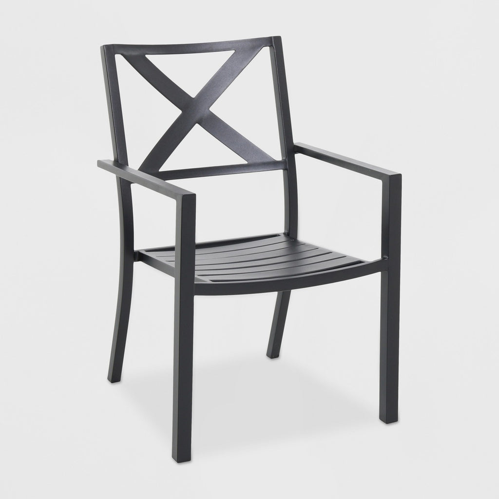 Afton Metal X Back Chair Black - Threshold™