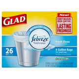 Glad Garbage bags Odor Control 26ct