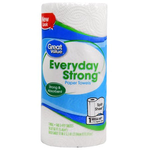 Great Value Paper Towels, Split Sheets, Mega Roll 140 / 2-Ply