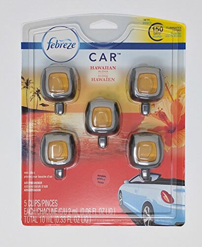 Febreze Car Air Freshener, 1 Clips, Hawaiian Aloha - up to 150 Days