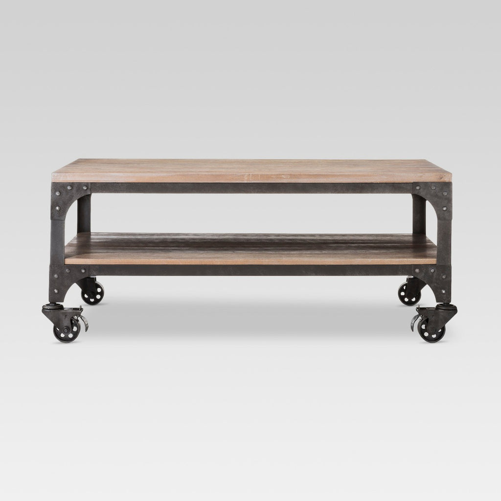 Franklin Coffee Table Wood Brown/Weathered Gray -
