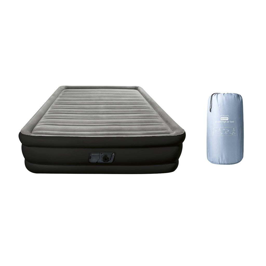Double High Queen Air Mattress with Built In Pump
