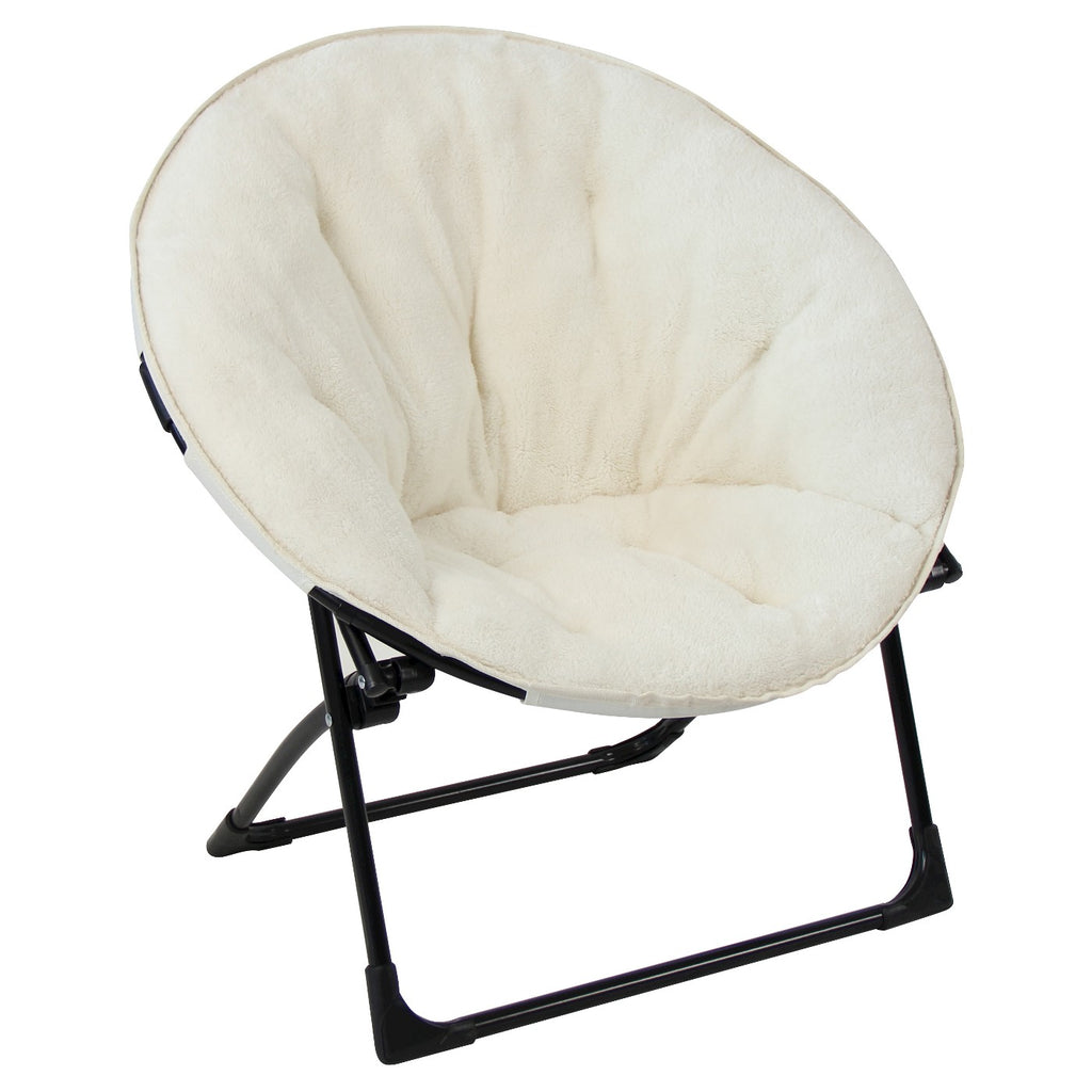 Fuzzy Kids Saucer Chair Cream - Pillowfort