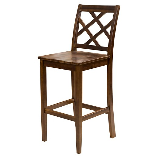 "Naples Acacia Wood 30"" Barstool Brown"