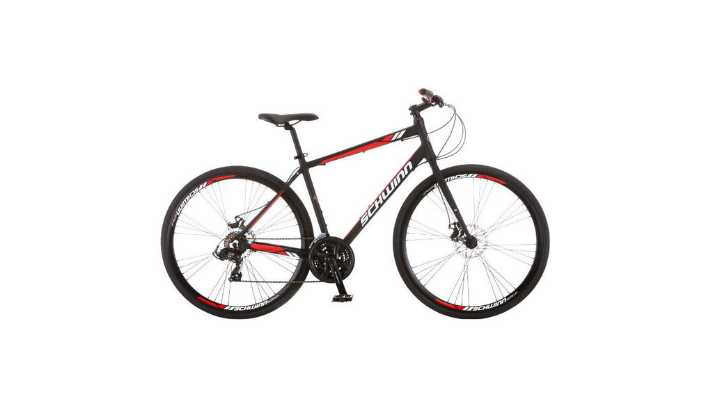 "Schwinn Men's Circuit 28"" Hybrid Bike with Disc Brake - Black"