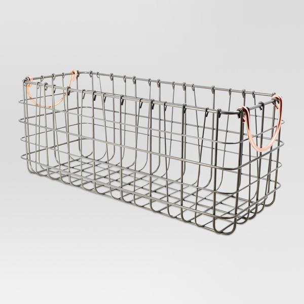 Tank Top Wire Basket Antique Pewter - Threshold