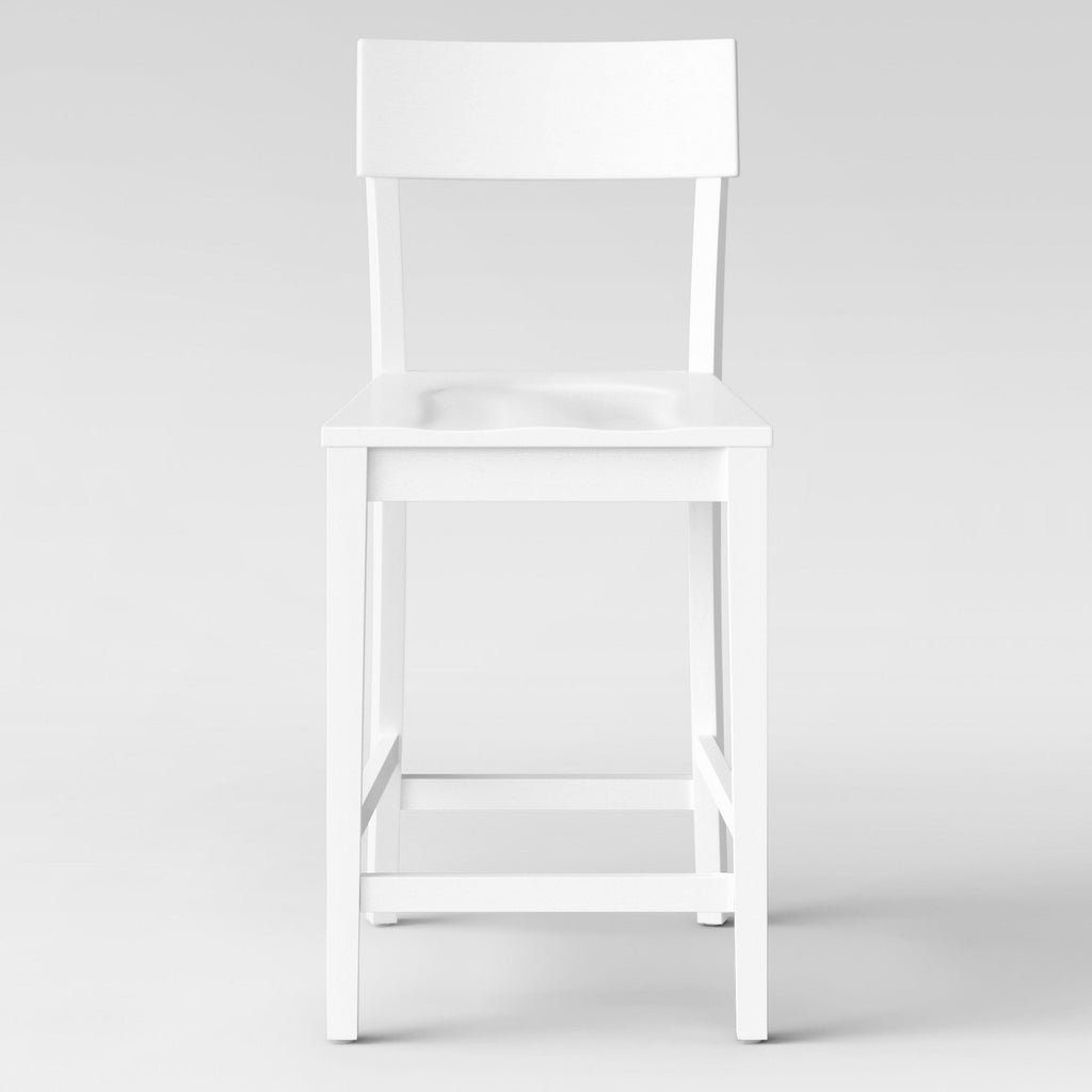 "24"" Modern Painted Barstool White - Project15"