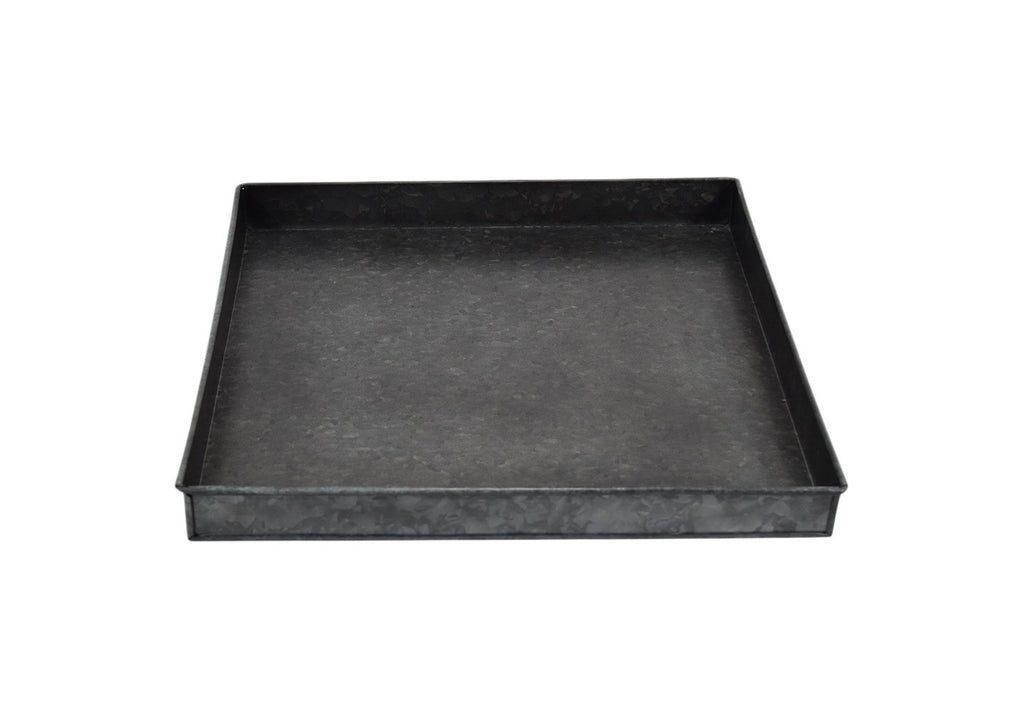 "16"" Iron Galvanized Tray - Black - Smith & Hawken™"