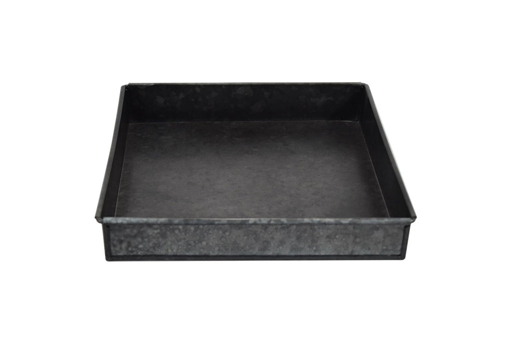 "10"" Iron Galvanized Tray - Black - Smith & Hawken™"
