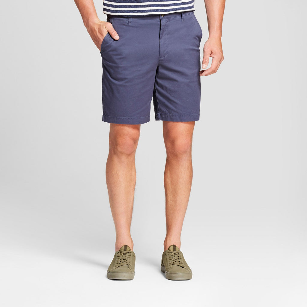 "Men's 9"" Linden Flat Front Chino Shorts - Goodfell"