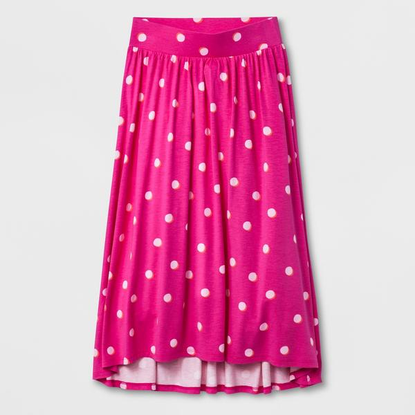 Girls' Maxi Skirt - Cat & Jack Fun Pink XL