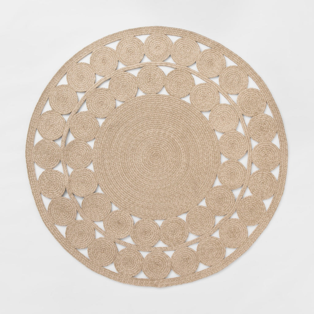 6' Round Woven Outdoor Rug Natural - Opalhouse