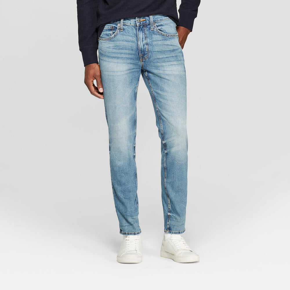 Men's Skinny Fit Jeans - Goodfellow & Co Med