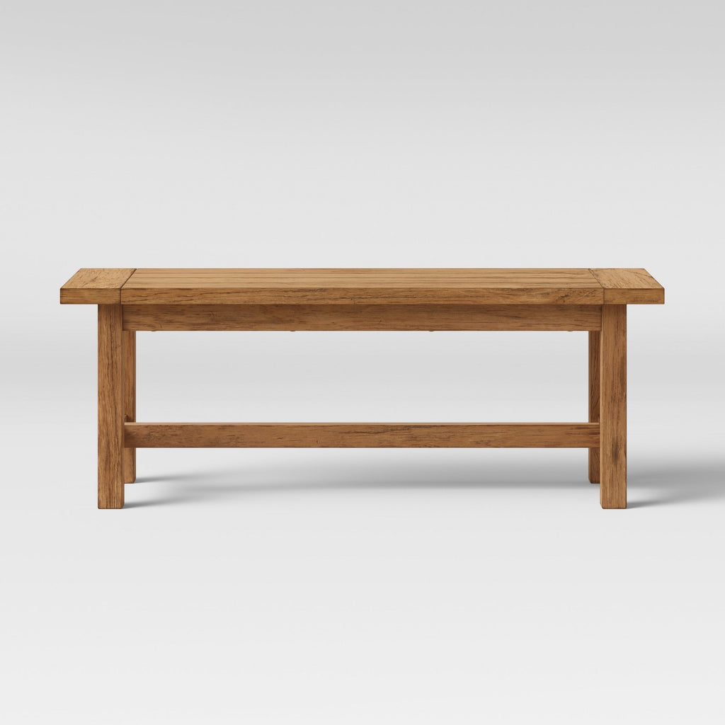 "49"" Gilford Rustic Dining Bench Rustic Brown - Thr"