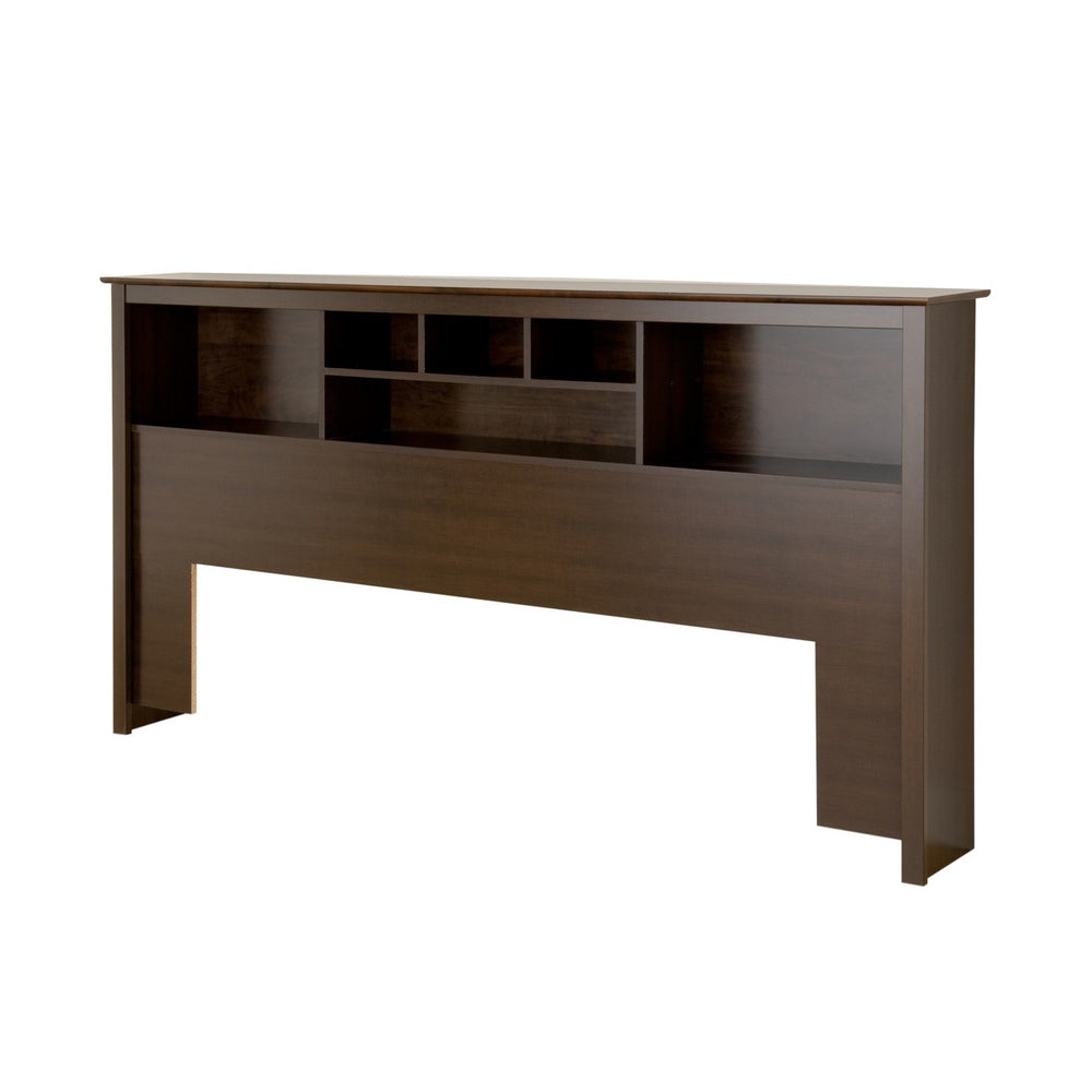 Bookcase Headboard King Espresso Brown - Prepac