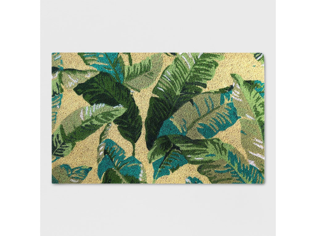 "18"" x 30"" Vacation Tropical Outdoor Doormat Green - Threshold™"