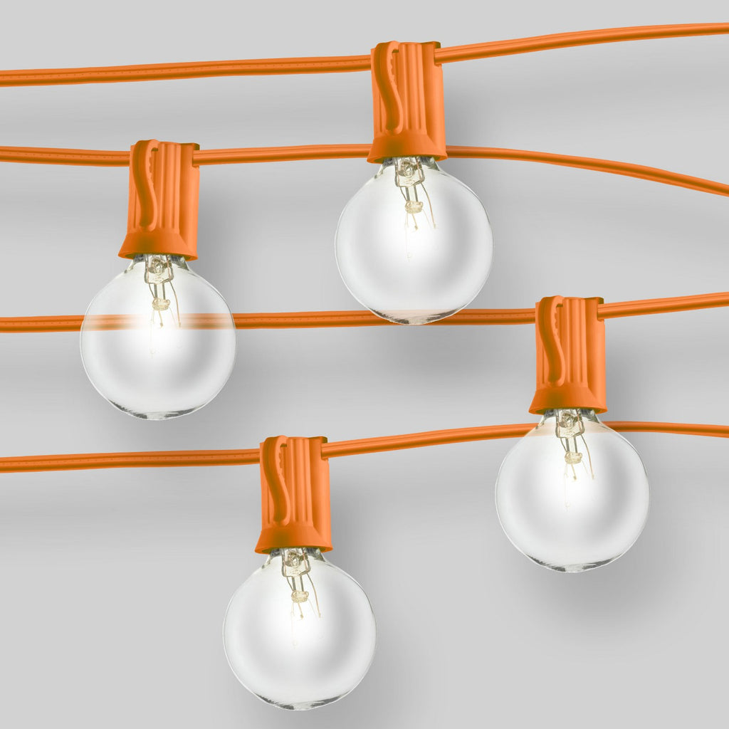 20ct Outdoor String Lights G40 Clear Bulbs - Orange Wire - Room Essentials™