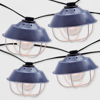 10ct Outdoor Cage String Lights Navy - Threshold&#