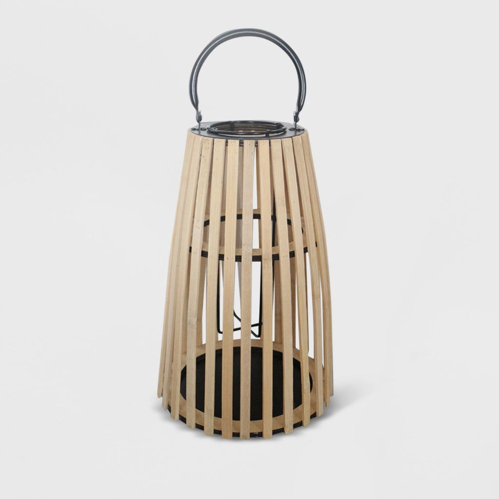 "12"" Taper Outdoor Lantern Natural - Opalhouse™"