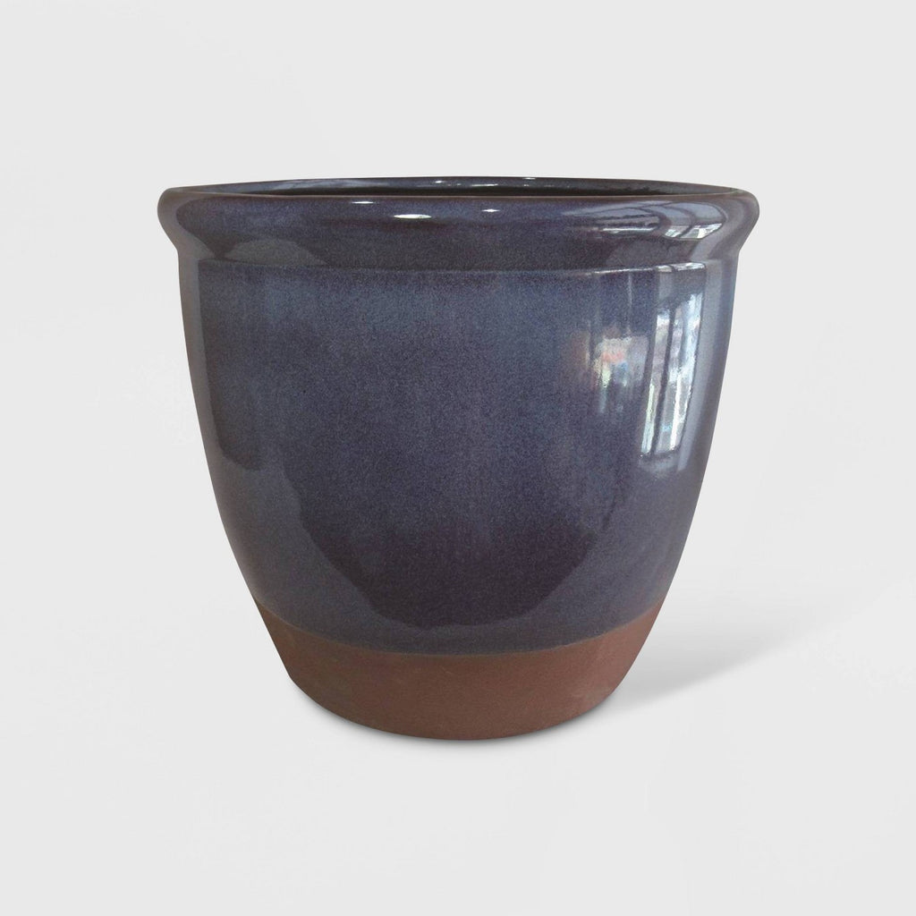 "14"" Dual Reactive Glaze Planter Blue - Threshold™"