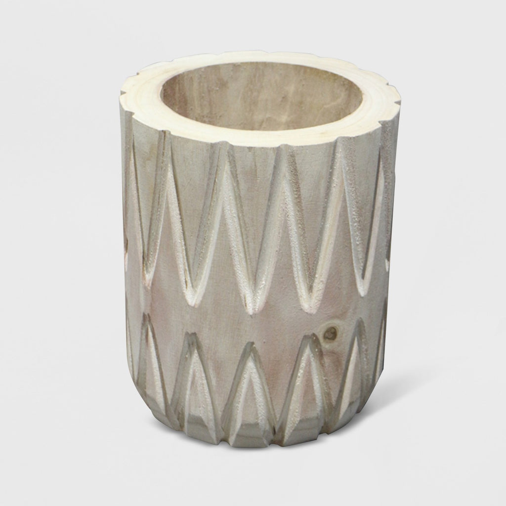 "10"" Textured Wood Planter - Opalhouse™"