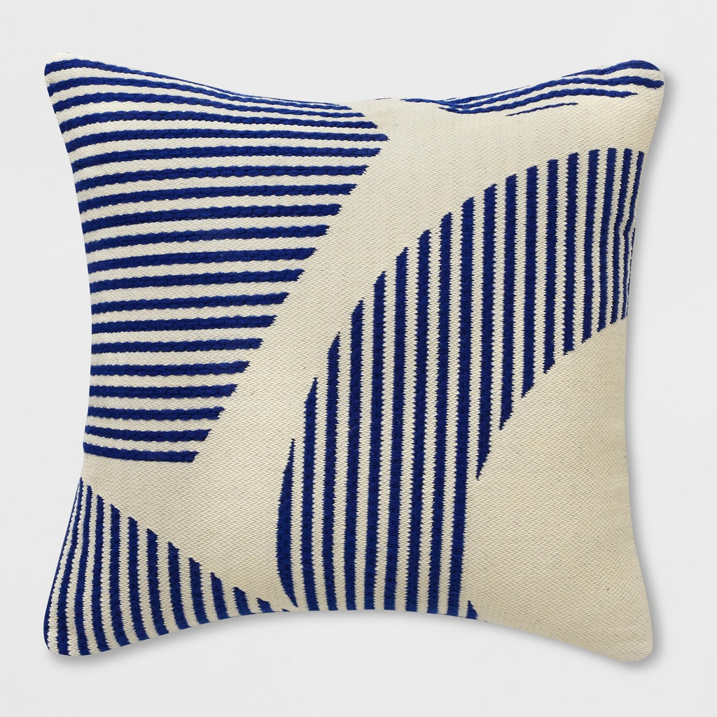Square Curve Stripe Outdoor Pillow Blue - Project 62™