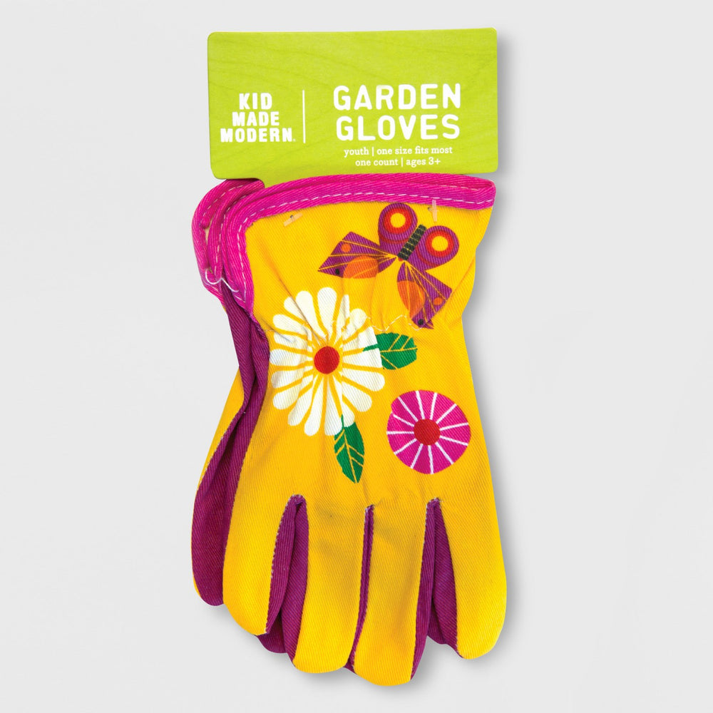 Butterfly Gardening Gloves Pink One Size - Kid Made Modern