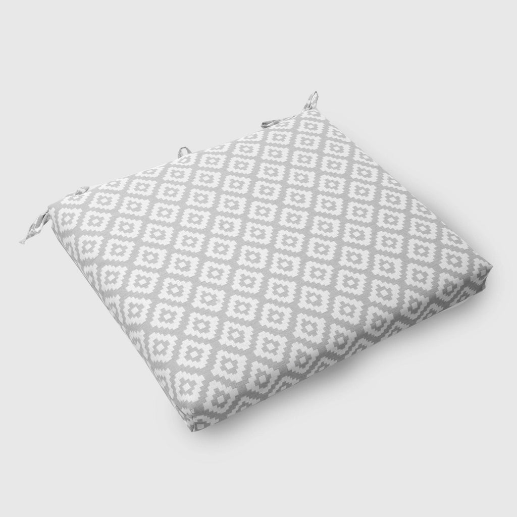 Geo Diamond Outdoor Seat Cushion Gray - Threshold™