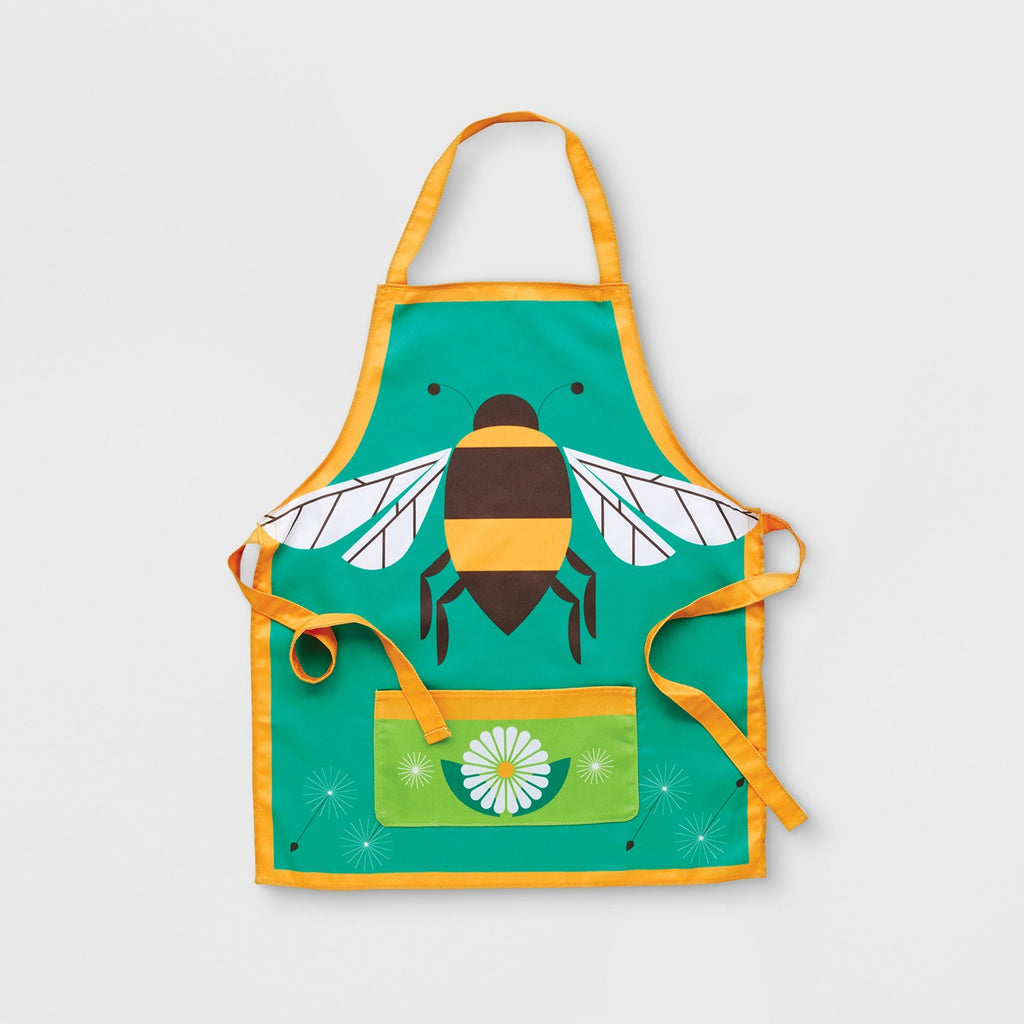 Bee Gardening Apron Yellow One Size - Kid Made Modern