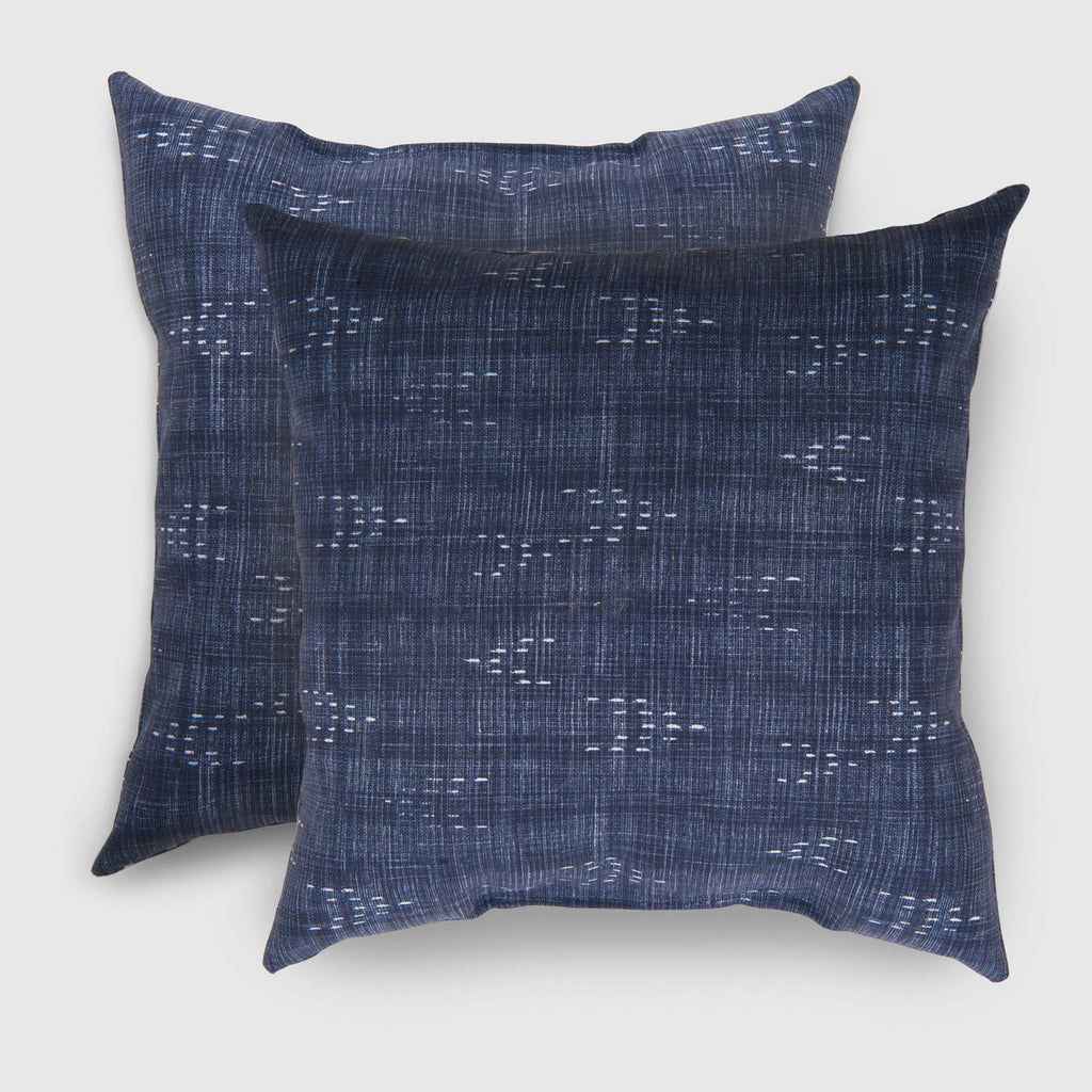 2pk Square Staccato Outdoor Pillows Navy - Threshold™