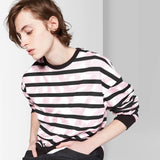 Men's Striped French Terry Pullover Sweatshirt - Original Use Sugar N' Spice XS