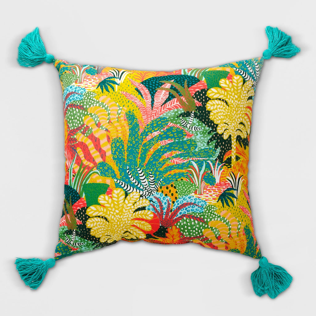 Tassel Outdoor Pillow Yellow/Green - Opalhouse
