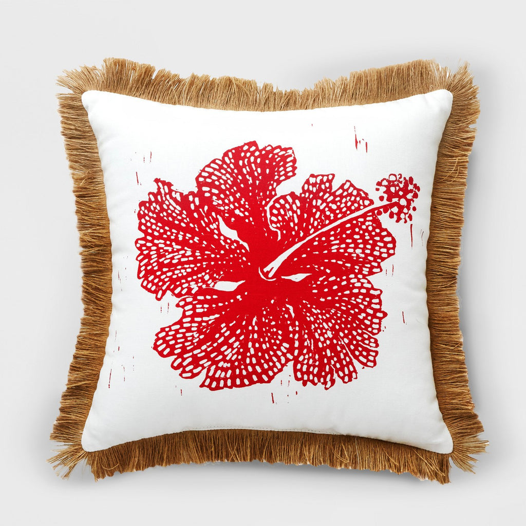 Hibiscus Outdoor Pillow Red - Opalhouse™